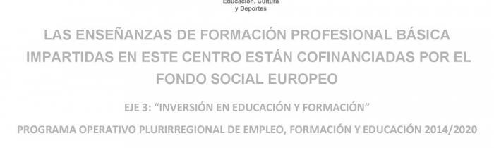 FONDO SOCIAL EUROPEO - FP BÁSICA